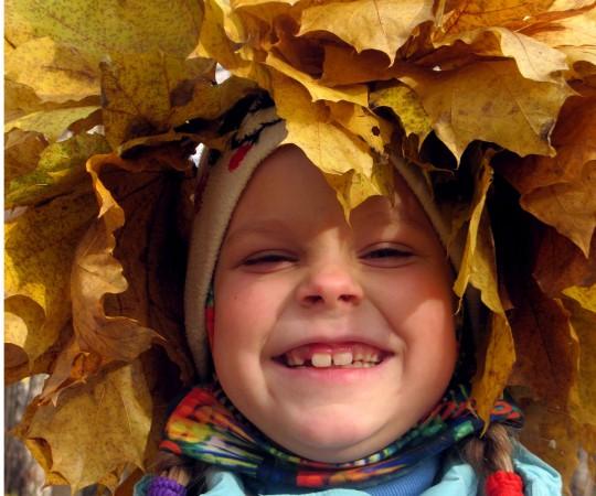 Веселая ботаника. Корона из листьев