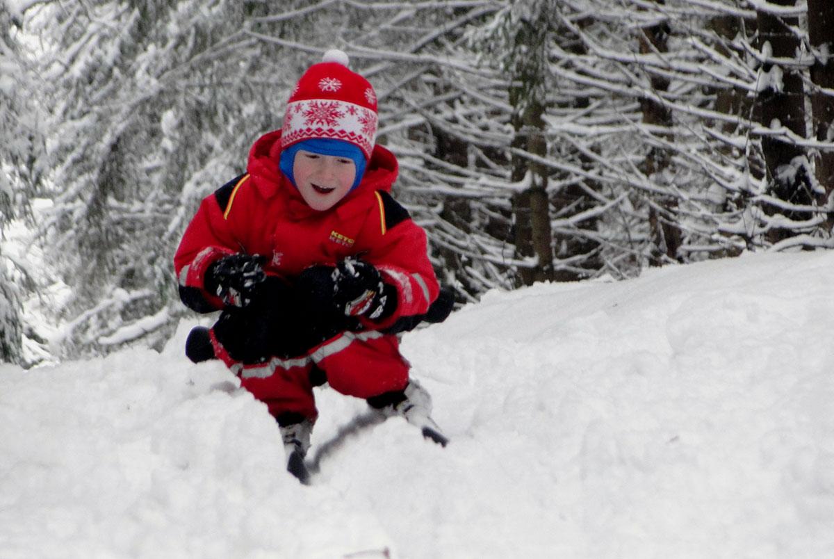 Старт лыжника
