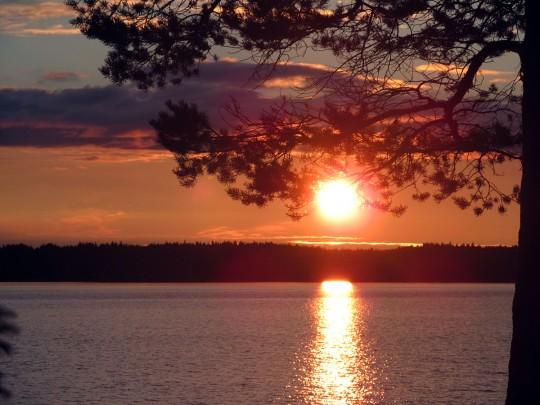 Карельский закат на Охте